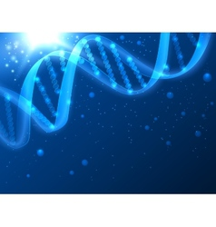 DNA medical background vector image vector image