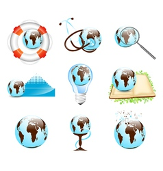 Earth Designs Set vector image