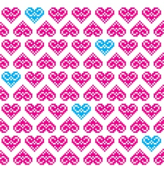 Heart pink seamless background pattern vector image vector image