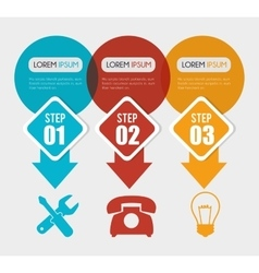 Infographic layout graphic design vector image vector image