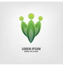 Organic logo design idea vector image