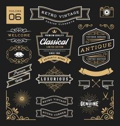 Set of retro vintage graphic design elements vector image vector image