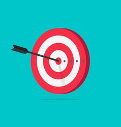 target icon flat cartoon vector image vector image