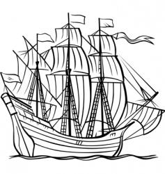 vector ship vector image