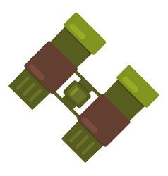 binocular icon flat style vector image