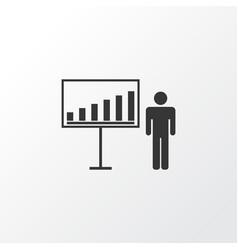 Business demonstration icon symbol premium vector