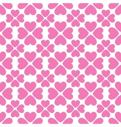 Floral seamless pattern with heart shapes vector image