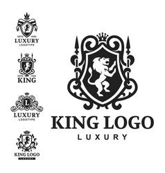 luxury boutique royal crest high quality vintage vector image