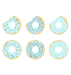 set of donuts 2 vector image vector image