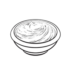 Sketch style drawing of ripe tomato slice vector image vector image