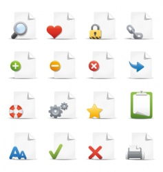 web pages icons vector image