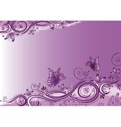 Flowers butterflies background vector image vector image