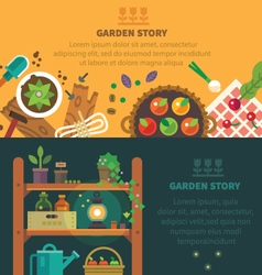 Garden backgrounds for site vector image vector image