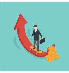 Money growth concept vector