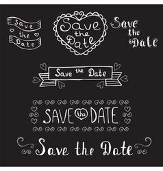 Save the date Wedding invitation Hand drawn vector image