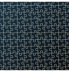 Seamless abstract pattern black puzzle vector