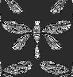 stylized brown dragonfly vector image vector image