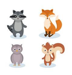 woodland animals wild icon vector image vector image