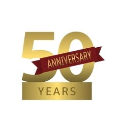 50 years anniversary vector image vector image