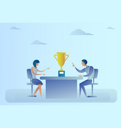 Abstract successful business man and woman sitting vector