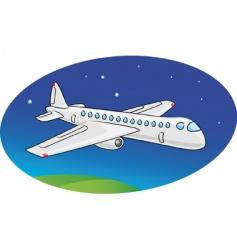 cartoon airplane vector image vector image