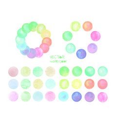 set of pastel watercolor circles vector image