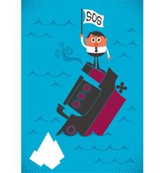 Sinking Ship vector image vector image