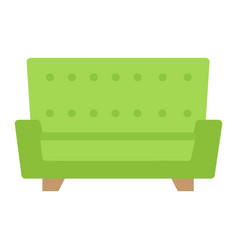 sofa flat icon furniture and interior vector image vector image
