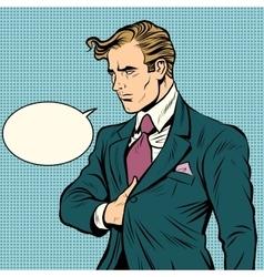 Strong man businessman leader vector image vector image