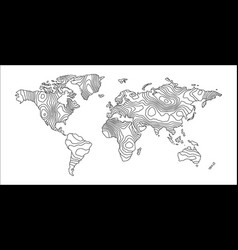 Abstract earth map consist of stripes vector