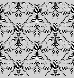 abstract floral seamless pattern grey vector image