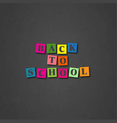 Back to school card with cartoon letters vector