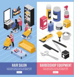 barbershop vertical banners vector image vector image