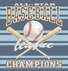 baseball league vector image