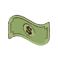 Bill money dollar cash icon sketch vector