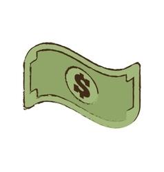Bill money dollar cash icon sketch vector