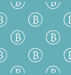 bitcoin sign pattern seamless blue vector image