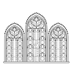 Black and white drawing for coloring book vector