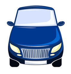 Blue car front view bumper vector