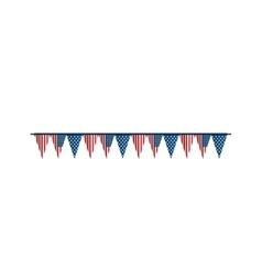 Bunting flag america usa vector