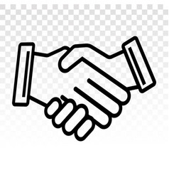 Business agreement handshake line art icon vector