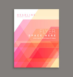 Business brochure flyer template magazine cover vector