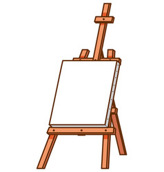 Canvas on wooden stand on white background vector