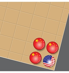 China is the winner in Go game business vector