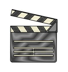 clapperboard cinema icon image vector image