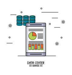 Colorful poster of data center service with vector