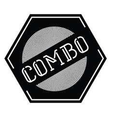 Combo stamp label vector