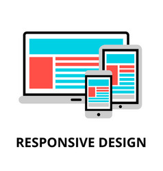 Concept responsive design icon vector