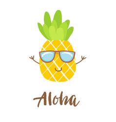 cute pineapple icon symbol vector image