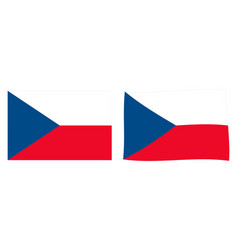 czech republic czechia flag simple and slightly vector image